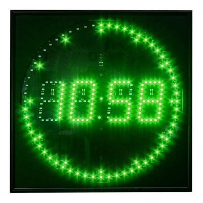 Часы настенные Импульс Электронное табло 430R-D8-G (35x35x4.5 см)