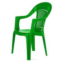 Кресло пластиковое Фламинго зеленое (560x580x900 мм)