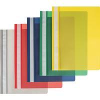 Скоросшиватель пластиковый Attache A4 до 100 листов в ассортименте (толщина обложки 0.15/0.14 мм, 10 штук в упаковке)