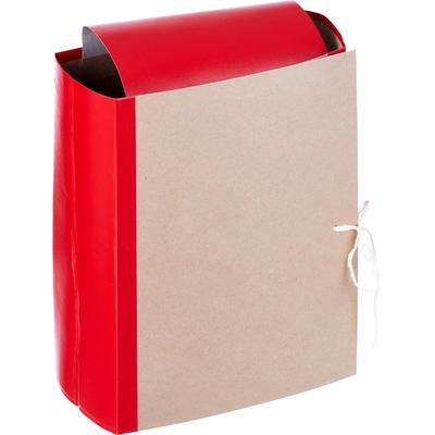 Папка архивная на 4-х завязках Attache А4 120 мм бумвинил до 1200 листов красная складная