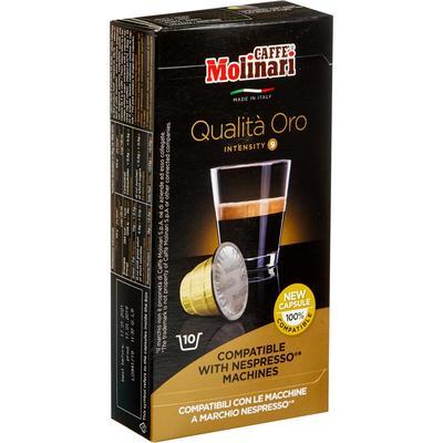 Кофе в капсулах  для кофемашин Molinari Qualita Oro (10 штук в упаковке)