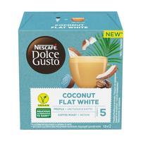 Кофе в капсулах для кофемашин Nescafe Dolce Gusto Flat White кокосовый (12 штук в упаковке)