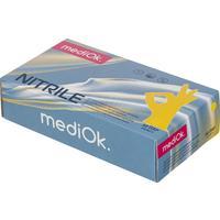 Перчатки одноразовые нитриловые неопудренные желтые (размер XS, 100 штук в упаковке)