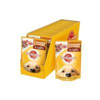 Корм для собак влажный Pedigree С говядиной и ягненком в соусе 100 г (24 штуки в упаковке)