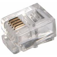 Джек телефонный PROconnect 6P4C (100 штук в упаковке)