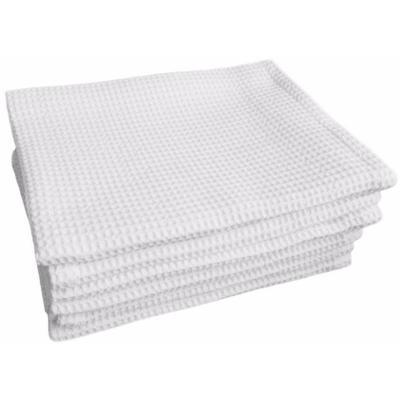 Полотенце вафельное 35х80 см 120 г/кв.м белое 10 штук в упаковке