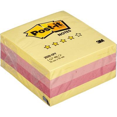 Стикеры Post-it Original Осень 76х76 мм пастельные 3 цвета (1 блок, 400 листов)