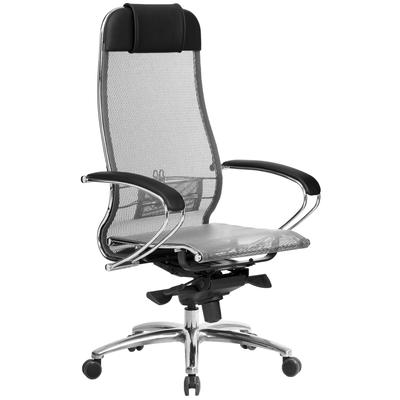 Кресло для руководителя Метта Samurai S-1.04 серое (искусственная кожа/сетка, металл)