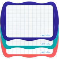 Доска-планшет пластиковая маркерная Bic A4 белая/клетка (с маркером и губкой, рамка ассорти)
