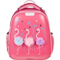Ранец №1 School анатомический Basic Flamingo (светящийся кант)