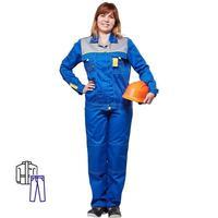 Костюм рабочий летний женский л10-КБР васильковый/серый (размер 60-62, рост 158-164)