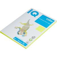 Бумага цветная для печати IQ Color желтая неон NEOGB (A4, 80 г/кв.м, 100 листов)