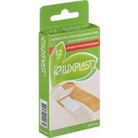 Пластырь кровоостанавливающий Luxplast телесного цвета 1.9x7.2 см (12 штук в упаковке)