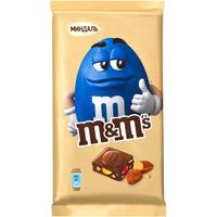 Шоколад M&Ms молочный с миндалем и драже 122 г