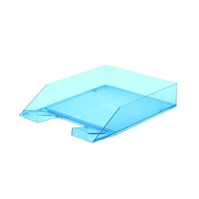 Лоток для бумаг Attache Selection Flamingo прозрачный голубой