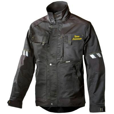 Куртка рабочая летняя мужская Dimex Attitude 639 с СОП черная (размер 3XL, 62-64, рост 186-190)