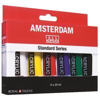Краски акриловыеRoyal Talens Amsterdam Standard 6 цветов по 20 мл