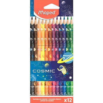 Карандаши цветные Maped Maped Color'peps cosmic 12 цветов трехгранные