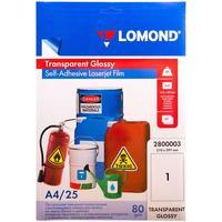 Пленка для проекторов Lomond прозрачная А4 (25 листов в упаковке, артикул производителя 2800003)