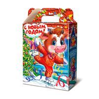 Новогодний сладкий подарок Новогодний каток в картонной коробке 1000 г (с пазлом)