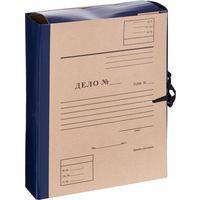 Папка архивная на 4-х завязках Attache Дело А4 80 мм бумвинил до 800 листов синяя складная