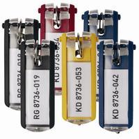 Набор брелков на ключи Durable Key Clip с маркировкой разноцветные (6 штук)