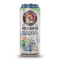 Пиво безалкогольное Paulaner светлое нефильтрованное банка 0.5 л