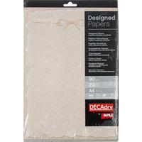 Дизайн-бумага Decadry Пергамент (A4, 90 г/кв.м, 20 листов в упаковке)