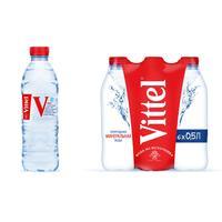 Вода минеральная Vittel негазированная 0.5 л (6 штук в упаковке)