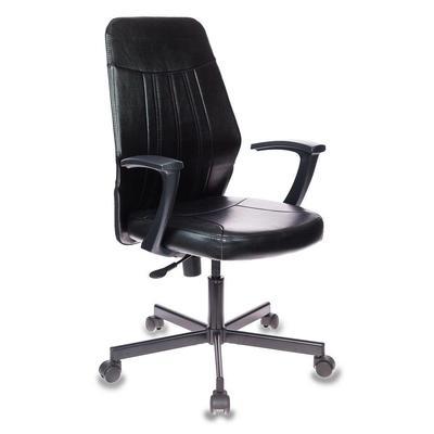 Кресло офисное Easy Chair 224 черное (искусственная кожа/металл)