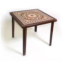 Стол пластиковый квадратный коричневый (800 x 800 x 710 мм )