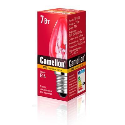 Лампа накаливания для ночника Camelion 7 Вт Е14 свеча 2700 К теплый белый свет