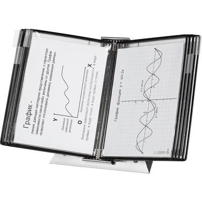 Демосистема настольная А4 10 панелей черного цвета Tarifold Stainless  Steel антибактериальные панели