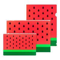 Набор папок №1 School Арбуз 3 штуки в упаковке (уголок А4, конверт на  молнии А4, А5)