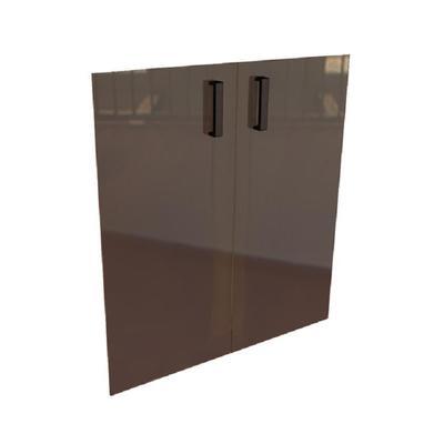 Двери стеклянные тонированные К-983 Приоритет (гарбо, 1167х712х4 мм, 2 штуки в упаковке)