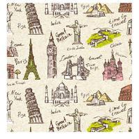 Бумага упаковочная Miland Время путешествовать (10 листов в рулоне,  70x100 см)