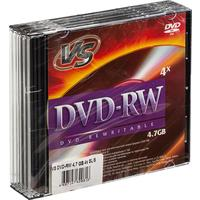 Диск DVD-RW VS 4,7 GB 4x (5 штук в упаковке)