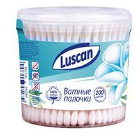 Палочки ватные Luscan 200 штук в упаковке (стакан)