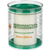 Пластырь фиксирующий Leiko Plaster 5x500 см целлюлозная основа