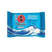 Влажные салфетки антибактериальные Maneki Kaiteki Морская свежесть 15 штук в упаковке
