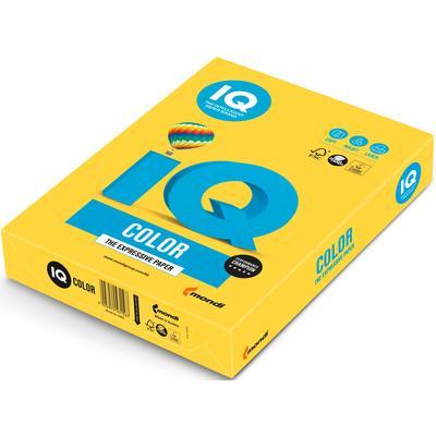 Бумага цветная для печати IQ Color желтая интенсив CY39 (А4, 80 г/кв.м, 500 листов)