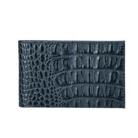 Визитница карманная Fabula на 40 визиток из натуральной кожи синего цвета (V.30.KM)