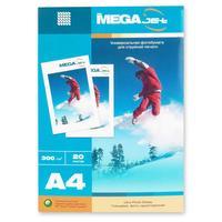 Фотобумага для цветной струйной печати ProMega jet односторонняя (глянцевая микропористая, А4, 300 г/кв.м, 20 листов)