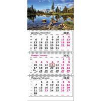 Календарь квартальный трехблочный настенный 2022 Природа (305x190 мм)