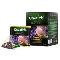 Чай Greenfield Grape Vines черный с ароматом винограда/смородины/гибискуса 20 пакетиков