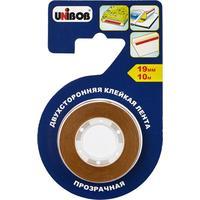 Клейкая лента для фотобумаги и пленки прозрачная Unibob полипропиленовая 19 мм х 10 м