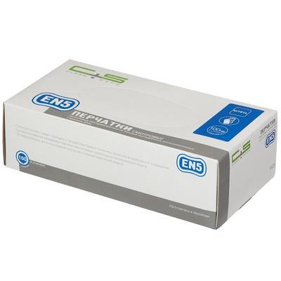 Перчатки медицинские смотровые нитриловые Clean+Safe нестерильные неопудренные размер S (100 пар в упаковке)