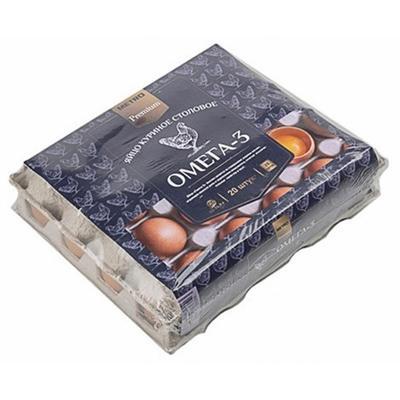 Яйца Premium Омега-3 С1 20 штук