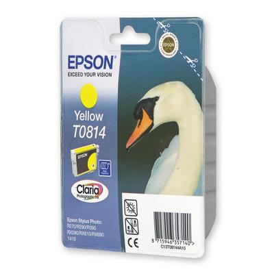 Картридж струйный Epson C13T08144A10/C13T11144A10 желтый оригинальный