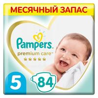 Подгузники Pampers Premium Care Junior Мега Супер Упаковка 5 (XL) 11-16 кг (84 штуки в упаковке)